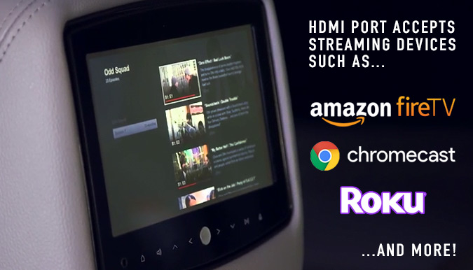 Rosen AV8900H HDMI Chromecast Amazon Fire Ready Headrest DVDs - Loveland, Longmont, Colorado
