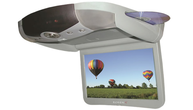 Rosen X10 10.2-inch Overhead Vehicle DVD Installation - Fort Collins, Loveland, Longmont, Colorado