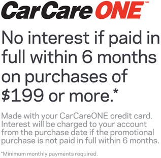 CarCare ONE Card Benefits