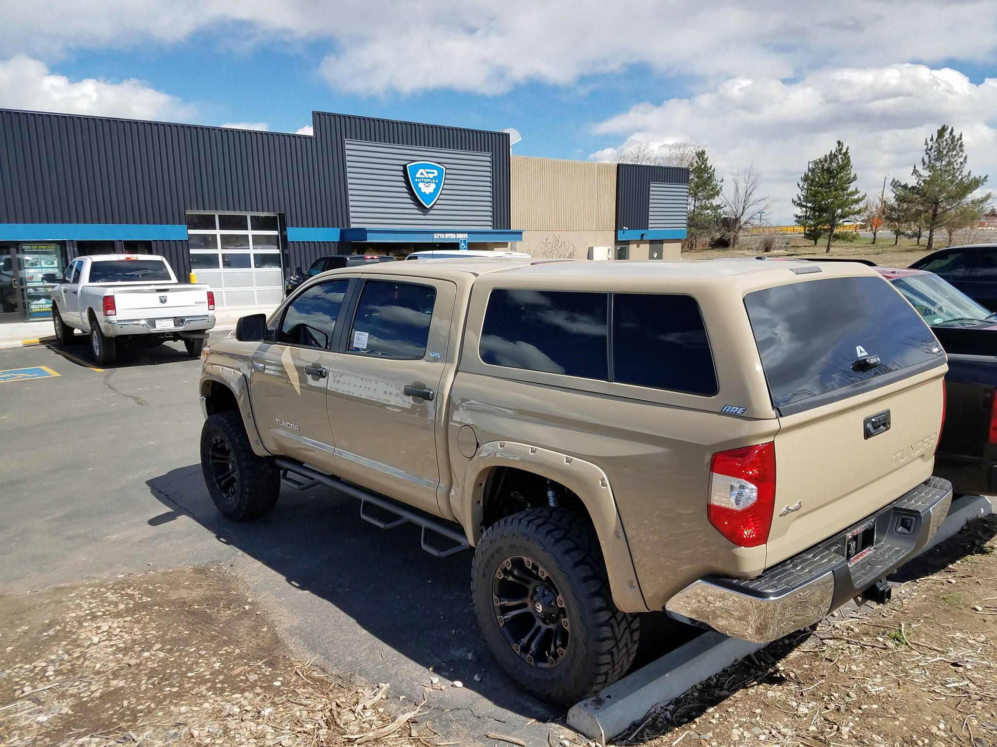 Tundra Truck Topper and Lift Kit Installed in Greeley, Colorado