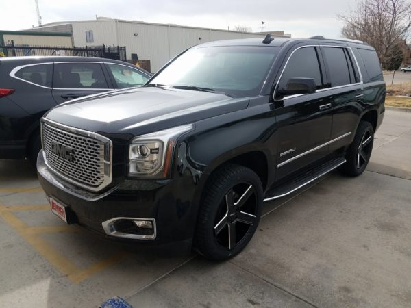 Tinted GMC Denali at Autoplex Window Tinting in Colorado